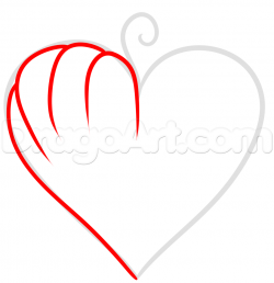 Heart-shaped clipart pumpkin