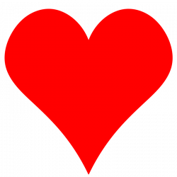 Heart-shaped clipart red heart