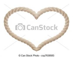 Heart-shaped clipart rope
