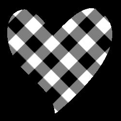 Heart clipart plaid