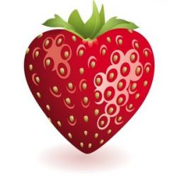 Heart-shaped clipart strawberry