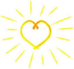 Heart-shaped clipart sun