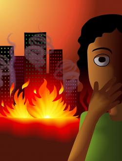 Heat clipart fire accident