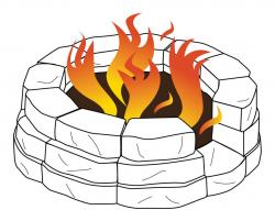 Warmth clipart fire pit