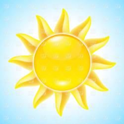 Sunbeam clipart hot sun