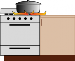 Gas Cooker clipart hot stove