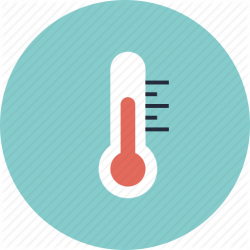 Heat clipart weather thermometer