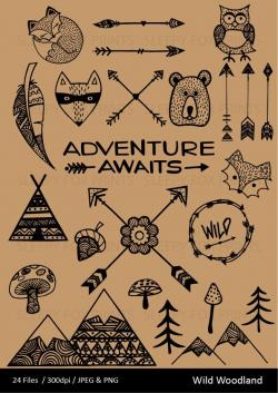 Hipster clipart mountain