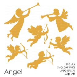 Gold clipart cupid