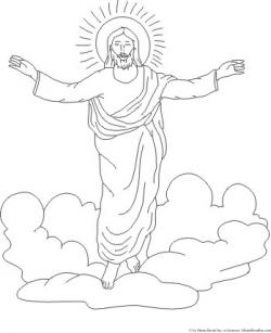Heaven clipart coloring page
