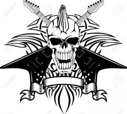 Heavy Metal clipart black and white