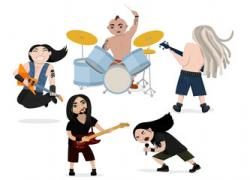 Heavy Metal clipart rock singer