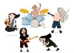 Heavy Metal clipart rock singer