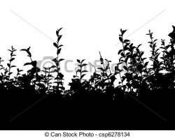 Hedges clipart black and white