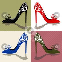 Heels clipart cute shoe
