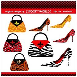 Purse clipart zebra print