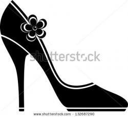 Sandal clipart black high heel