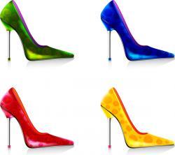 Footprint clipart high heel
