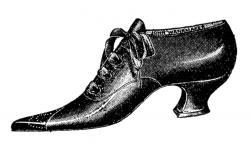 Heels clipart vintage shoe