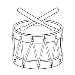 Drawn instrument drum line