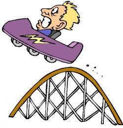 Cart clipart roller coaster