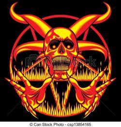 Pentagram clipart demon
