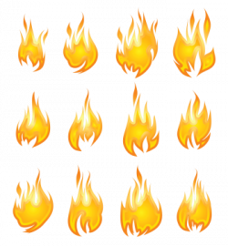 Hell clipart flame outline