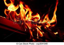 Hell clipart red flames