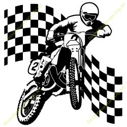 Stunt clipart bike racing