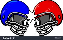Football clipart collision