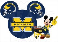Michigan clipart Michigan Football Clipart