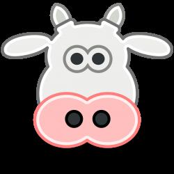 Herbivorous clipart cow head