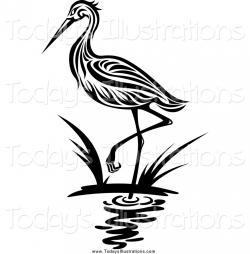 Egret clipart crane