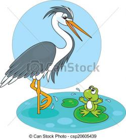 Blue Heron clipart egret
