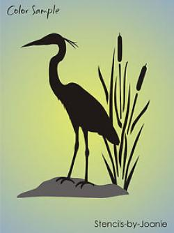 Great Blue Heron clipart wetland