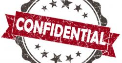 Hiding clipart confidential