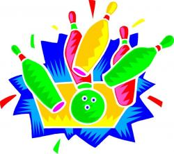 Bowling clipart neon