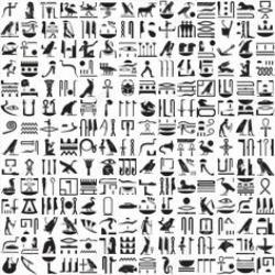 Hieroglyphs clipart african