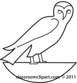 Hieroglyphs clipart bird
