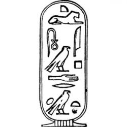 Hieroglyphs clipart black and white