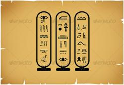 Hieroglyphs clipart egyptian civilization