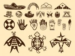 Hieroglyphs clipart native american