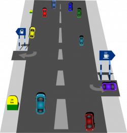 Freeway clipart road top view