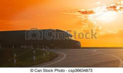 Highway clipart sunset
