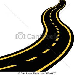 Highway clipart winding trail