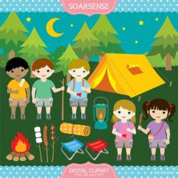 Camp clipart mountain hiking