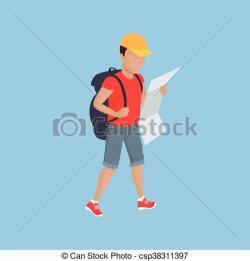 Hiking clipart traveller