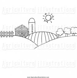 Pasture clipart black and white
