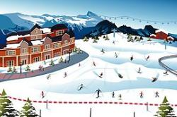 Ski clipart ski hill