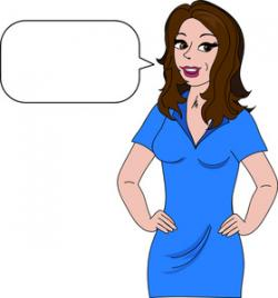 Hip clipart brunette woman